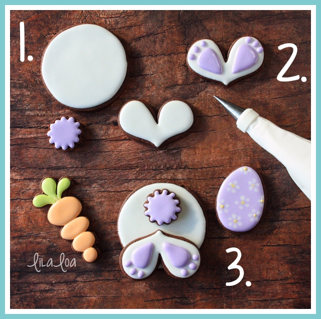 Easter Decorated Sugar Cookie Tutorial -- Bunny Bums