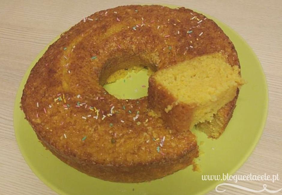 Bolo de laranja com cenoura + receita fácil + sobremesa + lanche + blogue português de casal + blogue ela e ele + ele e ela + pedro e telma