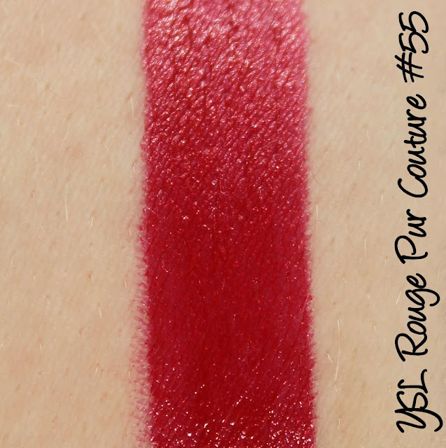 YSL Rouge Pur Couture #55 Rouge Anonyme Lipstick Swatches & Review