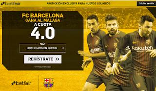 betfair supercuota victoria del Barcelona al Malaga 21 octubre