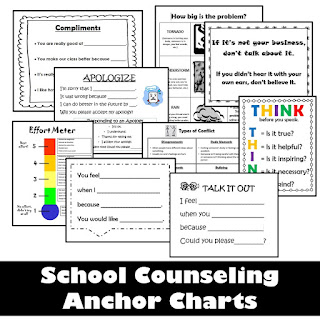 School counseling anchor charts