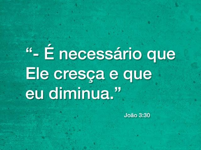 PÃO DIÁRIO -  É NECESSÁRIO QUE ELE CRESÇA...