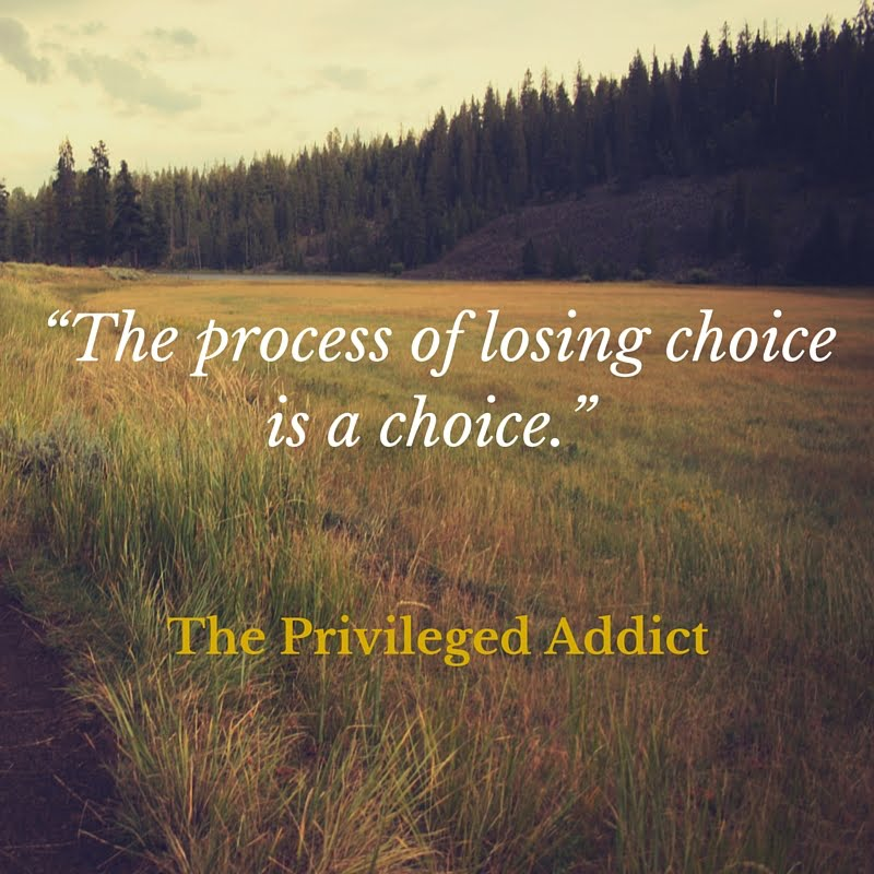 Process of Losing Choice Is a Choice
