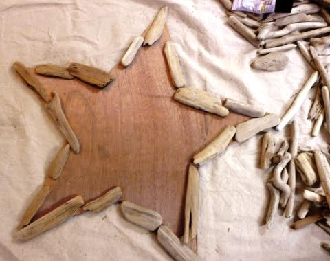 how to make Christmas star with wood