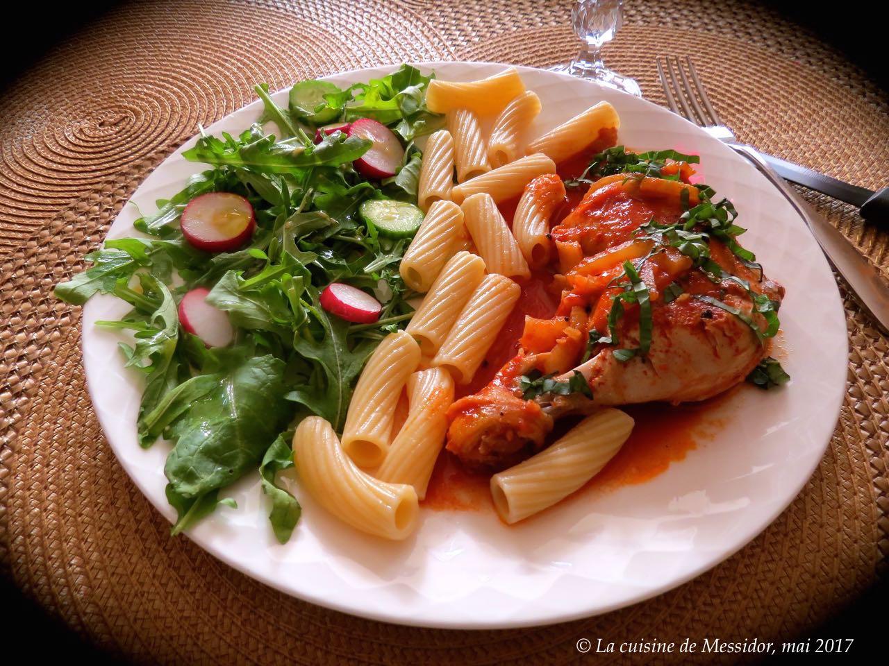La cuisine de messidor cuisses de poulet sauce m diterran e for Marinade poulet huile d olive