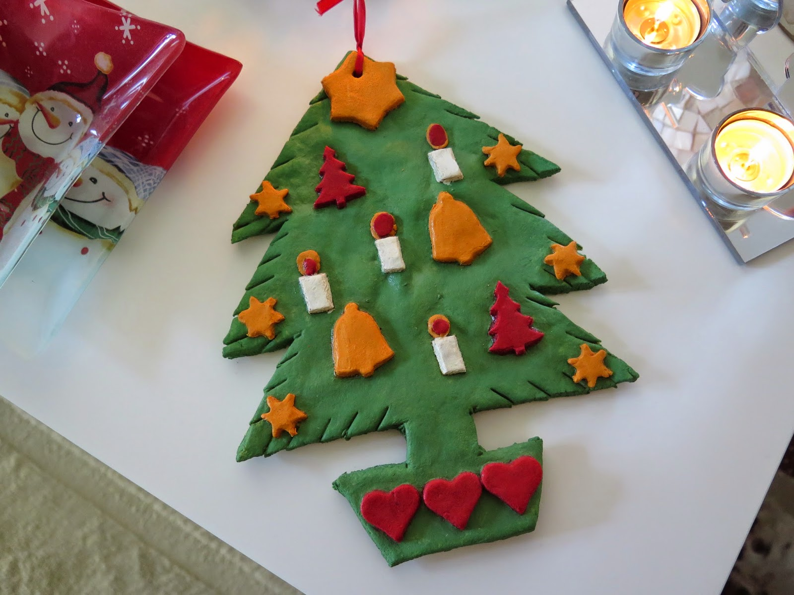 handmade dough christmas tree, christmas crafts
