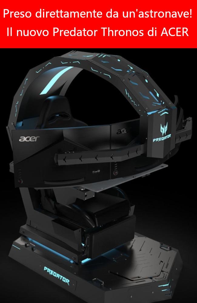 Nuovo sistema gioco immersivo della Acer il Predator Thronos
