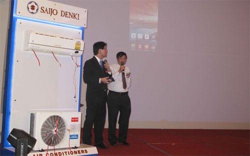 Điều hoà Saijo Denki điều khiển bằng Smartphone