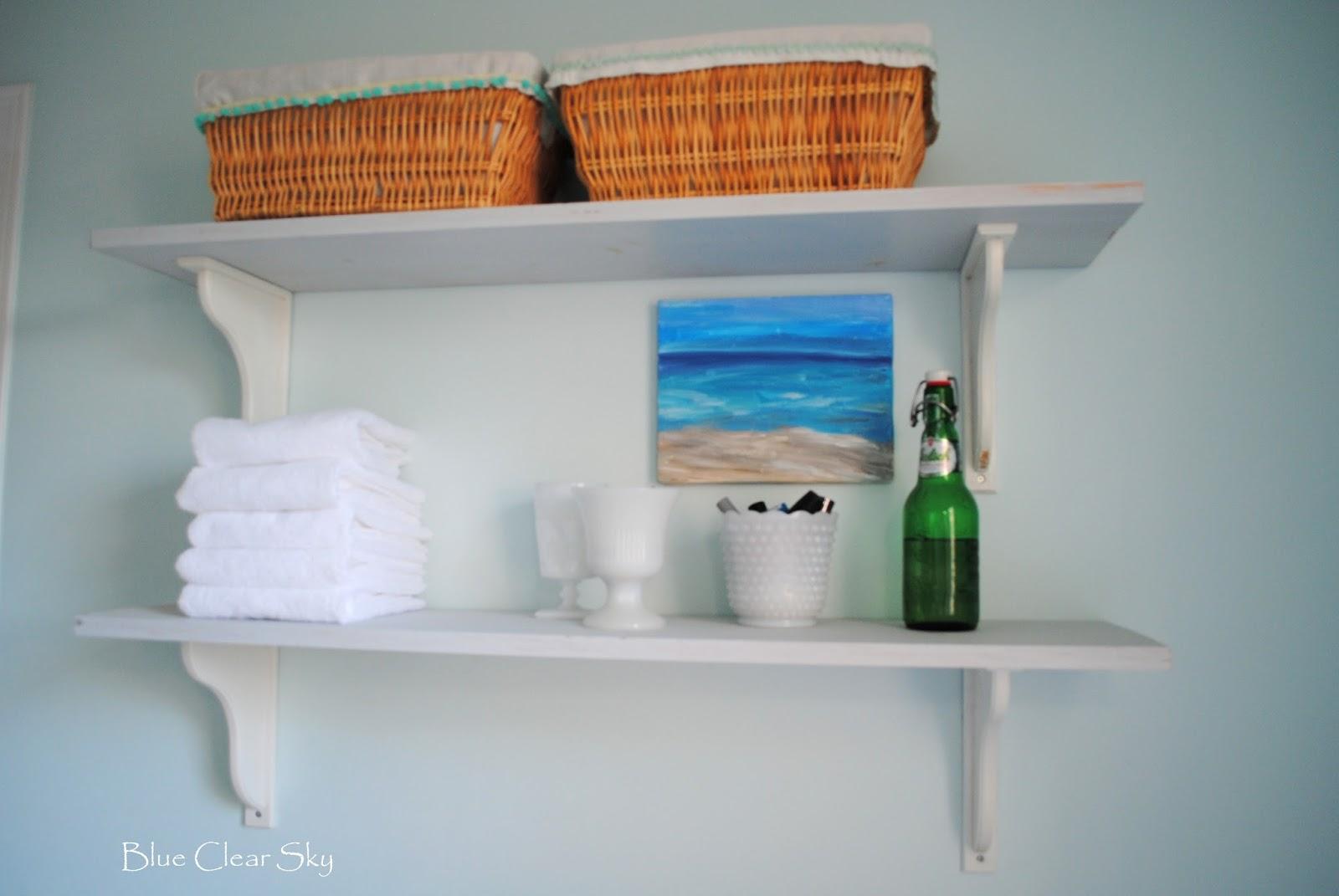 Rustic Maple: Simple Master Bathroom Shelves