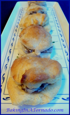 Mushroom Stuffed Buttermilk Biscuits | www.BakingInATornado.com | #recipe #appetizers