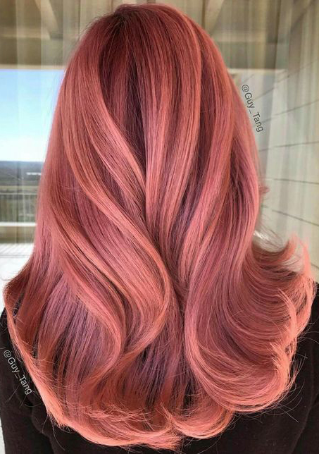 Rose Gold Hair Inspiration for You #hairstyles