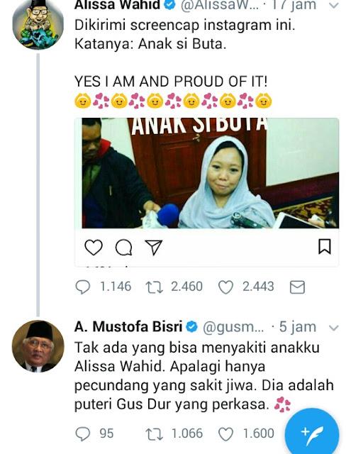 Berjiwa Besar Seperti Gus Dur, Alissa Wahid tak Marah Ketika Dicaci Maki
