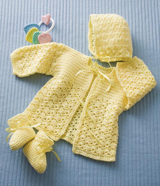 Lemon Drops Sweater Free Crochet Pattern designed by Sheila Leslie of Crochet Magazine.
