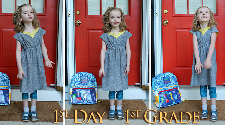 Sewing for the first day of first grade | The Inspired Wren