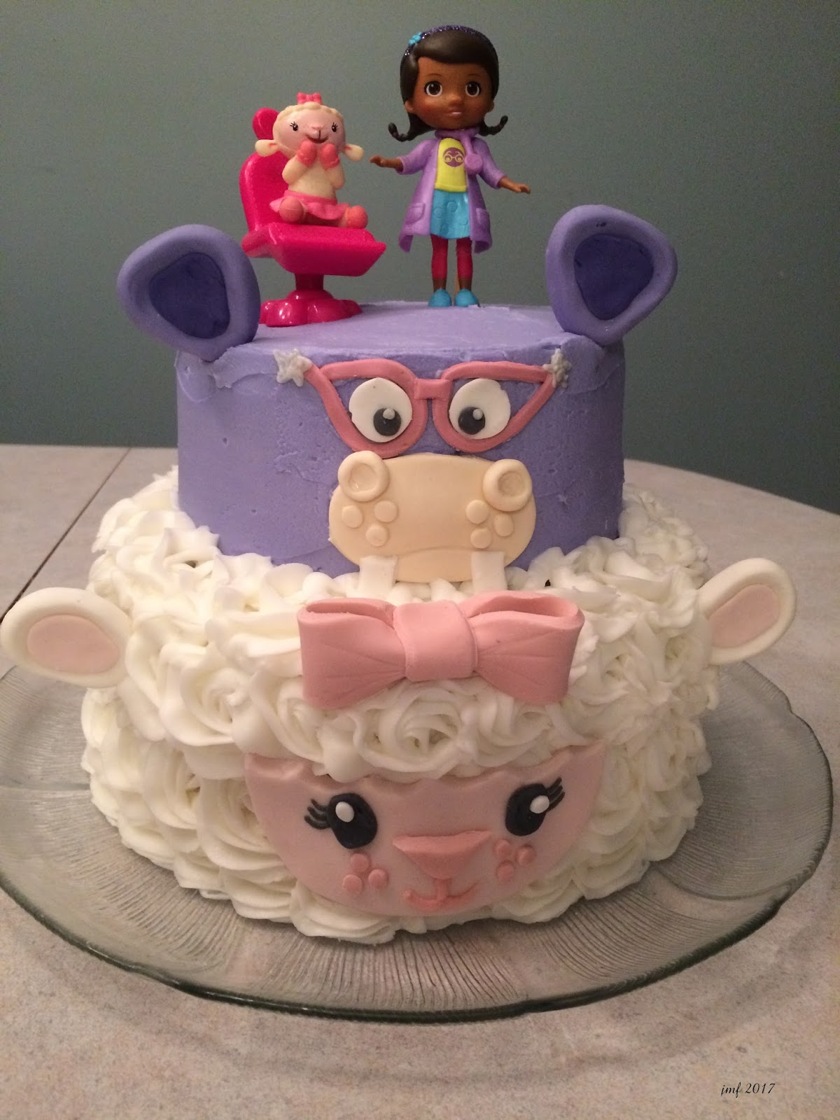 Excellent Jens Crafts And Cakes Doc Mcstuffins Birthday Cake Personalised Birthday Cards Bromeletsinfo