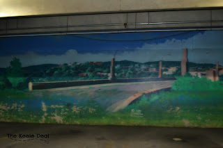 Murals in The Mall at Steamtown Parking Garage