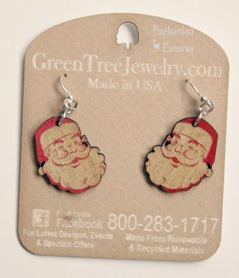 Blog Review of Green Tree Jewelry Company. Laser cut wood earrings, bracelets, switch plates, ornaments, pendants, and clocks.