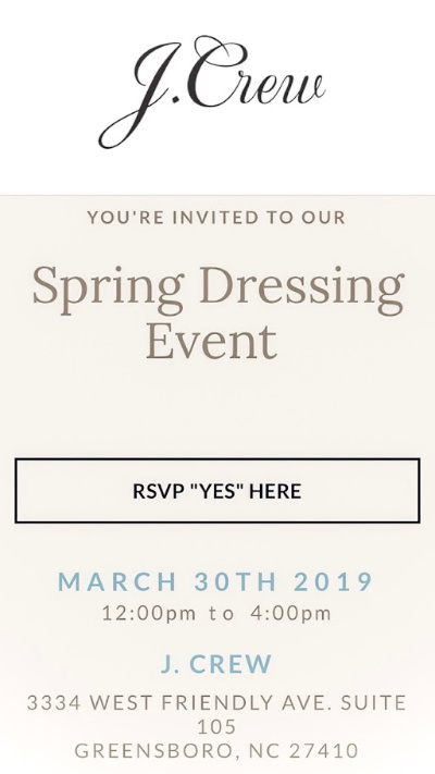 north carolina blogger, j. crew event, spring dressing event