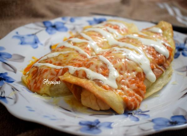 Enchiladas Rojas. Vídeo Receta