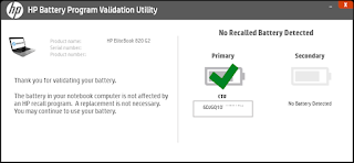 HP Battery Recall Utility