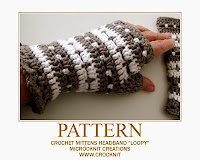 how to crochet, crochet patterns, mittens, fingerless, gloves, cowl, headband,