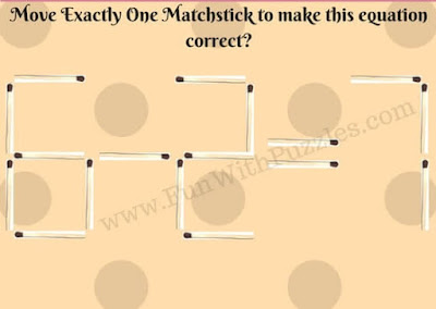 Matchstick Maths Picture Puzzle