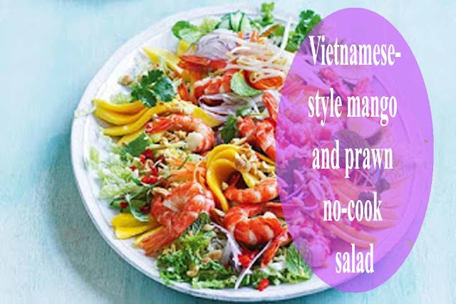 Vietnamese-style mango and prawn no-cook salad