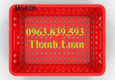 Rổ nhựa trưng bày, rổ nhựa đựng hàng may mặc 0963.839.593 Hs020-5a