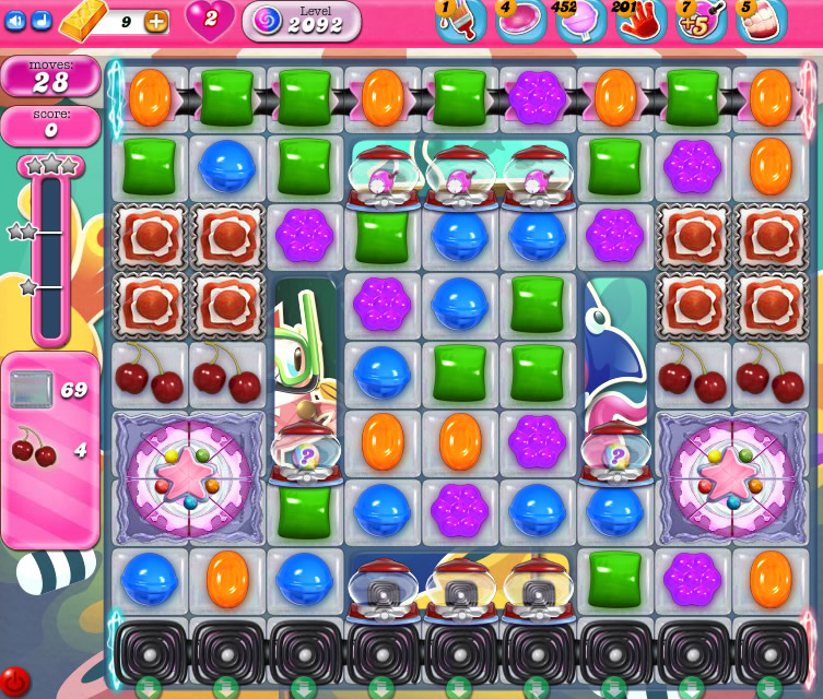 Candy Crush Saga level 2092