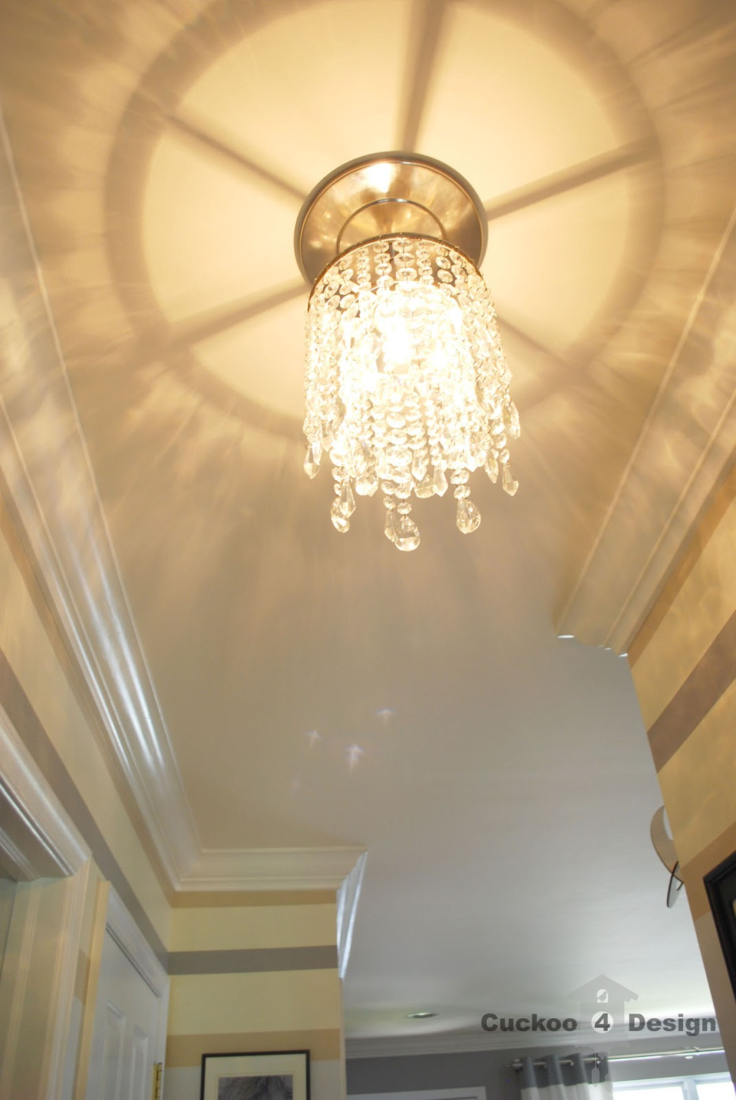 Diy crystal vanity shades cuckoo4design diy crystal chandelier hallway light arubaitofo Images