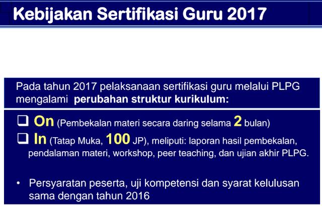 PLPG 2017 Struktur Kurikulum Baru, 2 Bulan Belajar Online