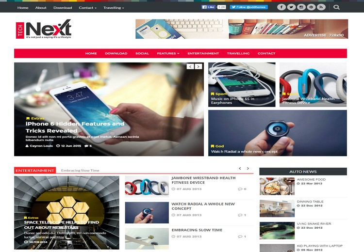 10 best blogger templates part1 seo responsive elegant blodzgn technext blogger template has 2 columns with one right sidebar and four columns footer three colors used in this template like white black and red pronofoot35fo Choice Image