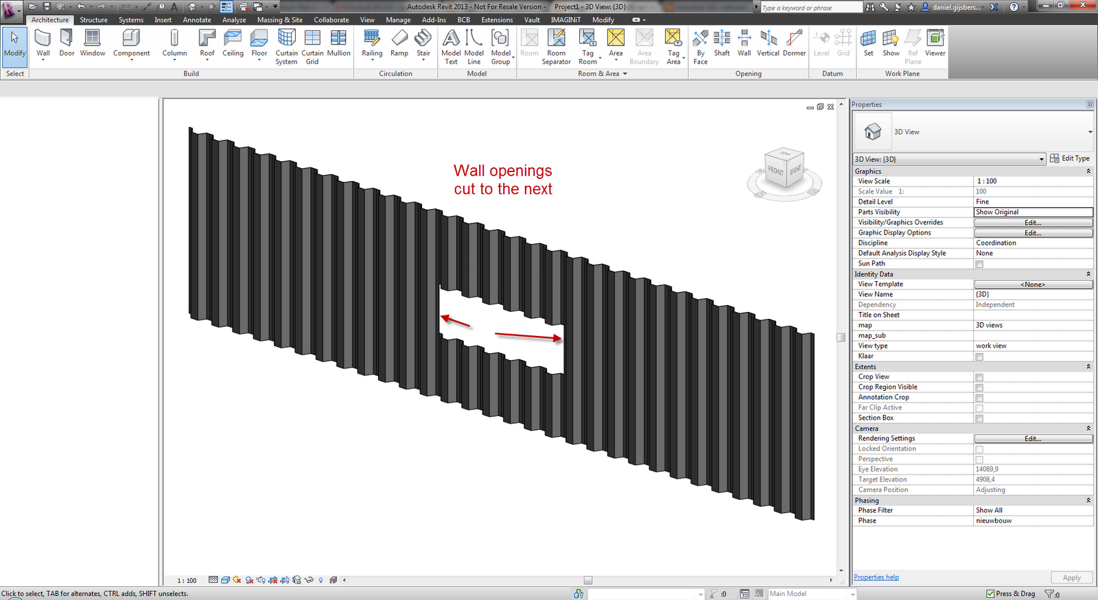how to change mullion spacing in revit