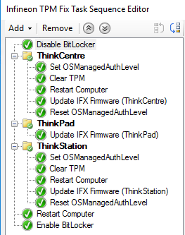 Patching the IFX TPM vulnerability on Think Products with SCCM