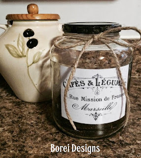 How to upcycle a pickle jar into a French Coffee storage container.