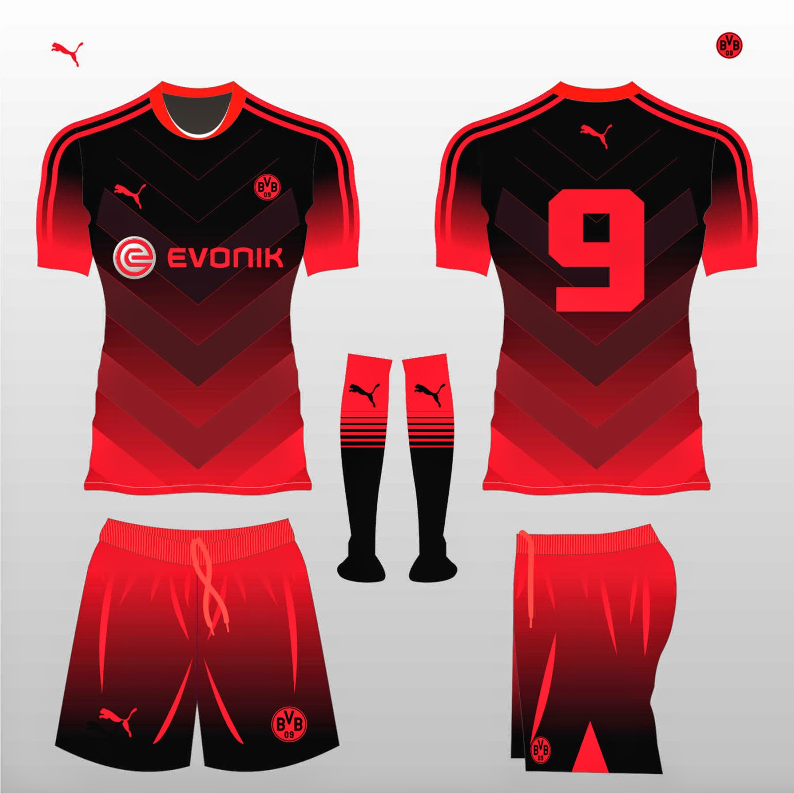super popular 23e50 5d05d Football Kit Design Master: Evonik Football kit design