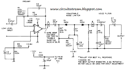 Build a Receiver Af Noise Limiter For Low-Level Signals Circuit Diagram