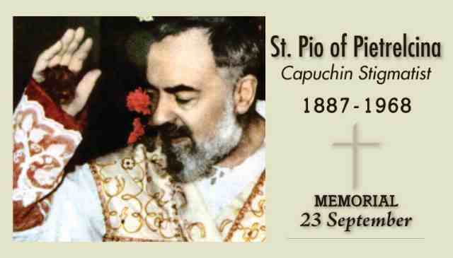 There is no real comparison between Padre Pio and John Corapi, but