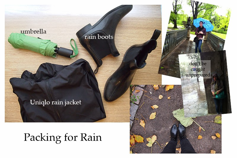 packing guide for rainy weather