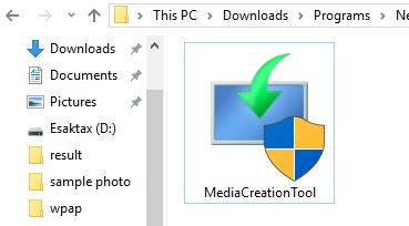 Inilah tool instalasi yang berhasil di download