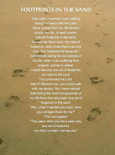 Blog And Google: footprints in the sand poem