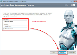 free download username and password for nod32 antivirus 8