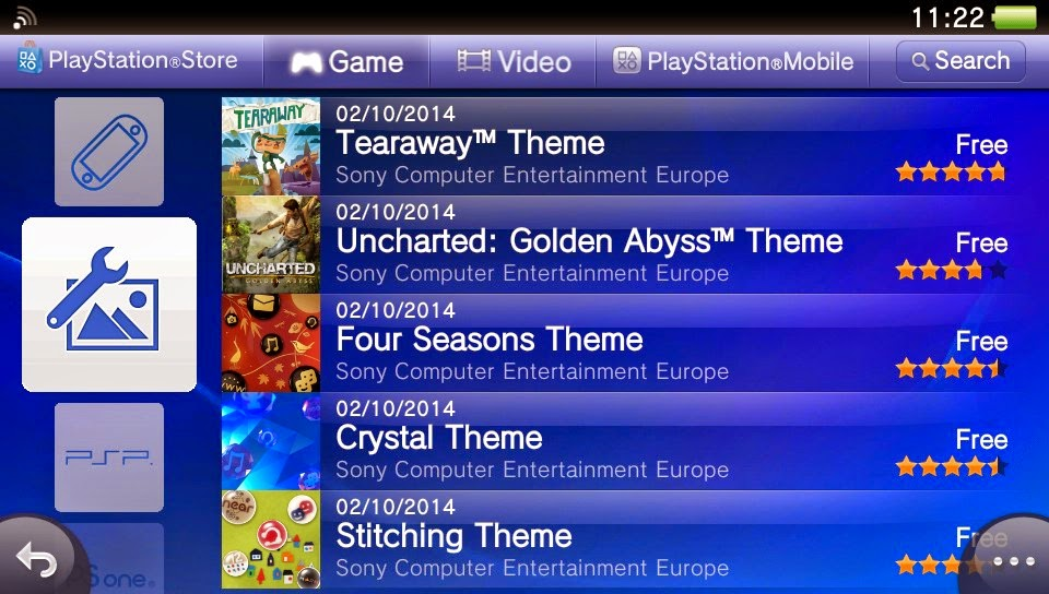 PS Vita Roundup: More themes appearing for free on PSN