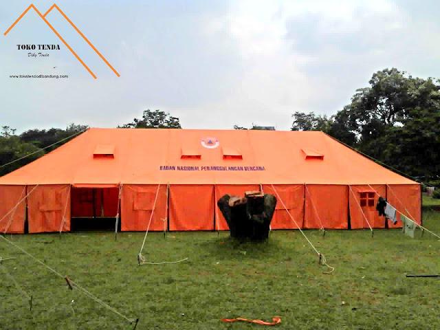 Tenda - Pleton - Pengungsi - BNPB