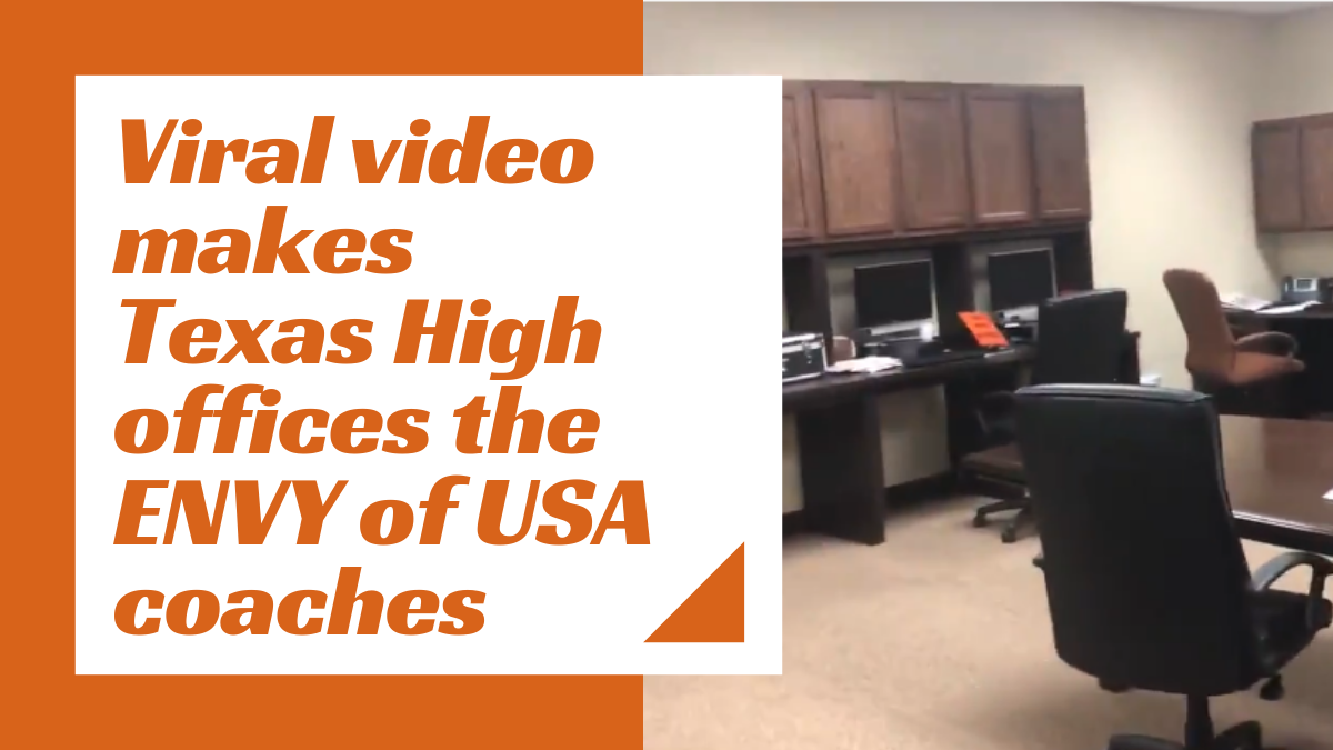 Coaches from around the USA are shocked by Texas High's athletic offices due to one minute viral video that has amassed over 200,000 views