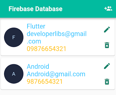 Added user infor on firebase database