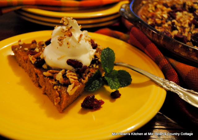 Cranberry Pumpkin Custard at Miz Helen's Country Cottage
