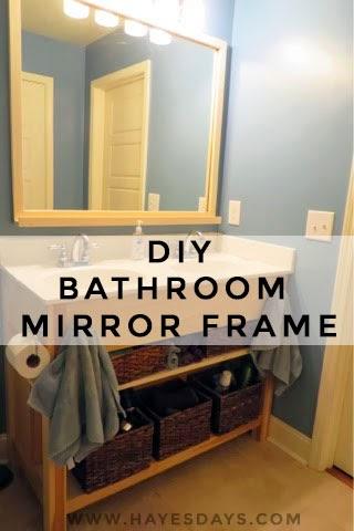 bathroom mirror frame with storage diy :: www.hayesdays.com