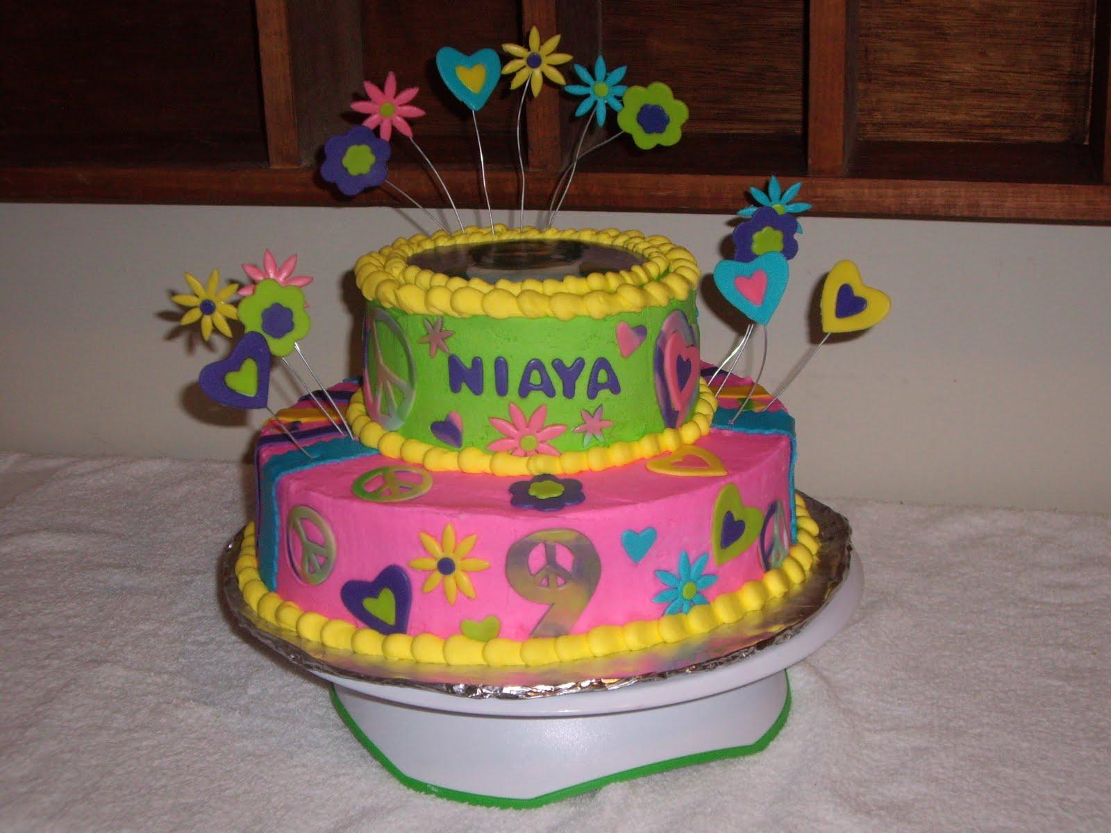 Custom Cakes By Christy Tie Dye 9th Birthday Cake