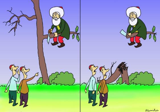 nasrettin hoca karikatürleri